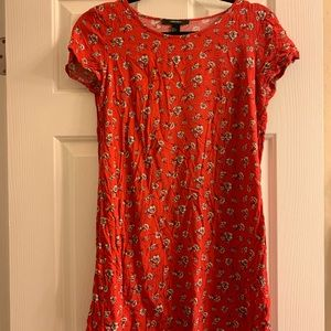 Red shift mini dress